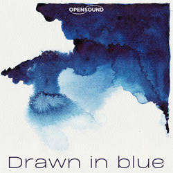 Cd Cover Drawn in Blue